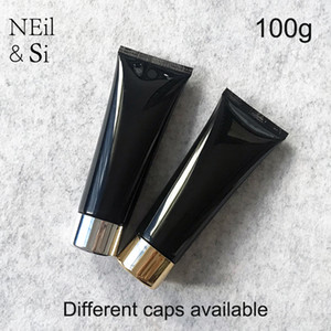 Şişeler Ambalaj Ücretsiz Kargo 100g Siyah Plastik Kozmetik Krem Bottle 100ml Yüz Temizleyici Losyon Tüp Otel Tedarik Şampuan