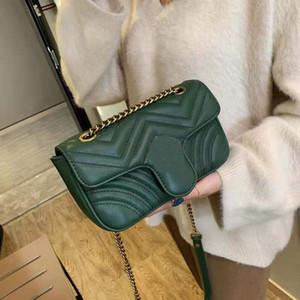 عالية أعلى جودة سلسلة مخلب محفظة واحدة الكتف المحمولة رسول crossbody حقيبة المرأة رسول حقيبة المرأة حقائب اليد الأزياء حمل حقيبة يد
