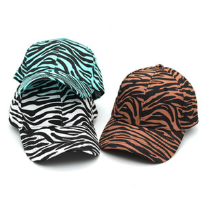 Zebra Stripe Ponytail Baseball Caps Washed Trucker Hats Pony Cap Outdoor Topee Caps Party Hats Favor LLA261