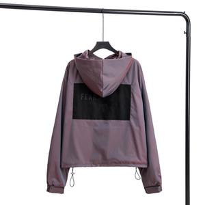 2020 hombres de las chaquetas de los modelos de América deportes retro con capucha de alta densidad recubierto de nylon tejido de protección de diseño esencial sol capa recorrido al aire libre