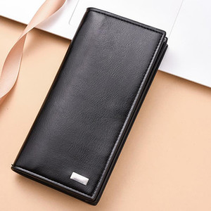 Men Long Section Fashion Wallets Coin Bag High Capacity ID Card Holder Purse Clutch With Zipper Mobile Phone Bag