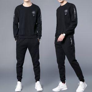 Nova Primavera Outono Casual Trasuit Moda Quente Esportes Masculinos Sweatsuits Dois Pedaço Conjunto Suor Sweate Wear Running Suit