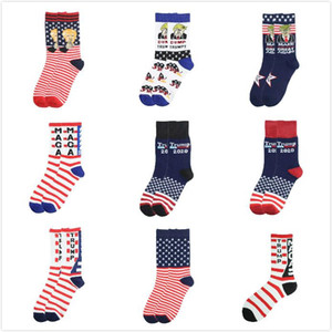 Creative Donald Trump Make America Great Again National Flag Stars Stripes Socks Funny Women Casual Men Short Happy Cotton Socks HWL HWE581