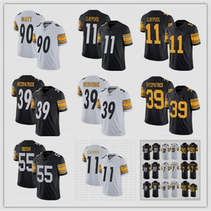 2021 Mens 90 T.J. Watt 19 JuJu Smith-Schuster 39 Minkah Fitzpatrick 55 Devin Bush jersey 30 James Conner 11 Chase Claypool 7 Roethlisberger