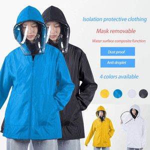 Unisex washable jacket coat clothes outfit hat waterproof removable hat coat jacket 2020 new