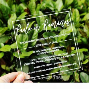 Clear Wedding Invitations