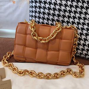 v yastık çanta altın zincir örgü deri omuz b Kadın crossbody çanta zarif 7a yüksek son özel kalite çantası çanta Tasche