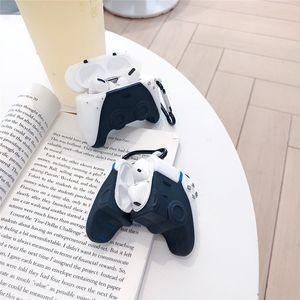 Brand PS5 Console de jeu Poignée 3D Cas 3D pour AirPods 1 2 PRO Chargements Boîte à chargement Soft Silicone sans fil Bluetooth Ecouteurs Bluetooth Protect Coques de couverture MQ30