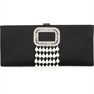 RV 019 high-end silk and satin socialite party evening wear bag in hand hand diamond-encrusted red bridal bridesmaid bag