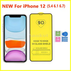 9D Tempered Glass,Full Cover Glue Tempered Glass Phone Screen Protector For iPhone 12 PRO MAX 11 XR X XS MAX 8 7 6 Samsung A31 A41 A51 A71