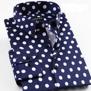 Grevol Nouvelle arrivée Mode pour hommes Chemises à manches longues conception unique Polka Dot Shirts Fashion Moderne Pop Element 201021