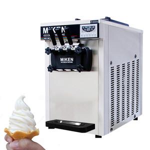 Три Ароматизаторы Desktop нержавеющей стали Soft Ice Cream Машина для холодных напитков Магазины Йогурт Мороженое машина TB-618