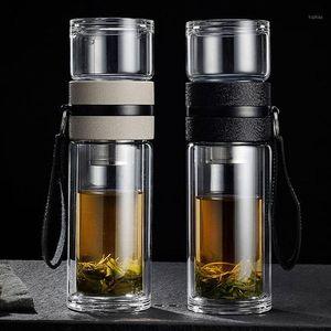 Разделительные чашки Пользовательские двойные стекло Портативный фильтр Рука Творческие Мужчины и Женские Кубки Воды Блендеры Мини Блендер Mixer1