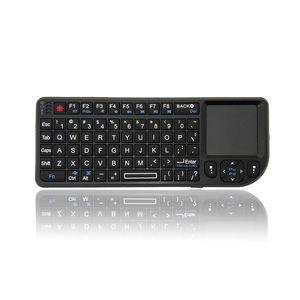 A8 Wireless Keyboard Air Mouse 2.4g Mini Touchpad Branco Backlit para Plug and Play do projetor de fala