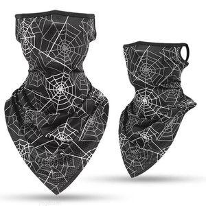 Tube New Ice Silk Sports Bandana Triangle Pendant Face Mask Scarf Neck Leggings Cover Fishing Headband Running Hiking Men Women W1