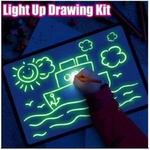 Big Magic Luminous Drawn Board Daw AVEC Sketchpad Panneau Fluorescent Pen