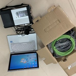 MB Star C5 SD Compact 5 with 8G Tablet CF-AX2 Mini SSD V06.2020 Software X DTS Vediam HHT Auto for BENs Diagnosis tool