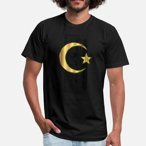 Golden Crescent Moon And Star Enhanced Without T Shirt Classic Breathable O-Neck Tracksuit Hoodie Sweatshirt