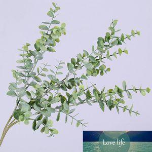 Artificial Plastic Plants Leaves Tree Green Eucalyptus Branch for Garden Wedding Decoration Faux Fake Foliage Christmas Decor