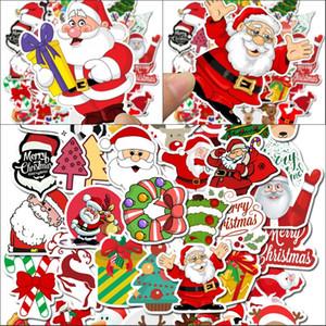 50 Stück Aufkleber Wasserdichte Weihnachts Graffiti-Aufkleber Laptop Auto Gepäckaufkleber Cartoon-Blumen-Weihnachtsmann Schneemann 4 5SL G2