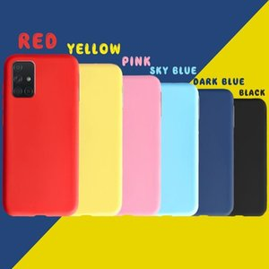For Samsung Galaxy A71 A51 Case Solid Color Cover Shockproof Sile Phone Case On For Samsung A 71 51 Cover Sof sqchEL