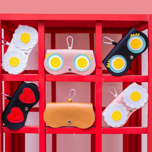 Multi Options Available Portable Glasses Case With Hanging Bucket Faishon PU High Quality Handmade Glasses Case