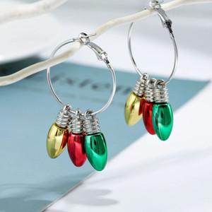 Natale ornamenti europeo e Americanexaggerated orecchini creativo orecchini lampadina regali personalizzati feste 4style T2I51603