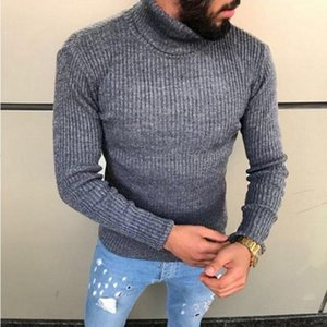 Fashion Winter High Neck Thick Warm Sweater Men Turtleneck Brand Mens Sweaters Slim Fit Pullover Men Knitwear Male Double collar