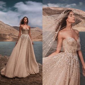 Zuhair Murad Luxury Beading 2021 Wedding Dresses A Line Sweetheart Neck Crystal Beads Bridal Gown Backless Wedding Dress Robes De Mariée