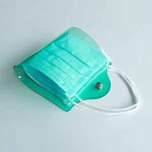 Маски зажима для хранения клипы цветные папки маски держатель лица держатель пластиковый зеленый черный красный с кнопкой взрослых детей водонепроницаемый 4YYA F2