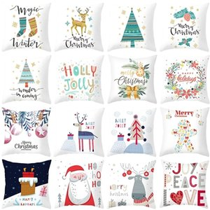 Pillowcase Sofa Cushion Pillow Cover Merry Decorations For Home New Year Christmas Gift