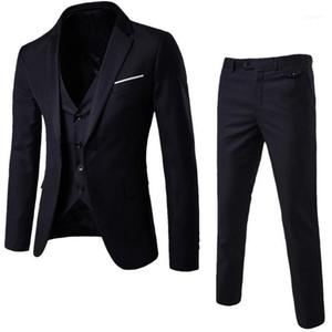 Men Wedding Suit Male Blazers Slim Fit Suits For Men 3-Piece Suit Blazer Business Wedding Party Jacket Vest & Pants11