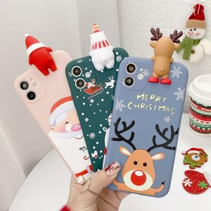 Cute 3d Doll Cartoon Christmas Santa Reindeer Tree Phone Case For Iphone 12 11 Pro Xs Max X Xr bbykpx