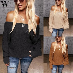Womail Shirt Women Office Elegant long Sleeve Sexy Off Shoulder Solid Autumn Slash Neck Shirt Casual Tunic blusas mujer1