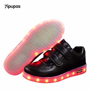 7Ipupas crianças sapato luminoso menino meninas esporte corrida sapato bebê luzes brilhantes moda sapatilhas criança criança levou tênis q0113