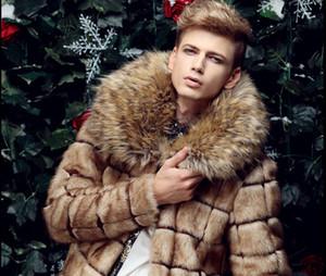 Mens Casual di spessore di spessore collo di pelliccia caldo Giacche cappotto con cappuccio Office Work all'aperto a maniche lunghe giacche cappotti invernali Plus Size