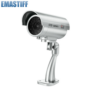 Free Shipping Fake Dummy Camera Bullet Waterproof Outdoor Indoor Security CCTV Surveillance Camera Flashing Red LED