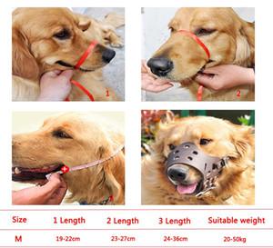 قابل للتعديل الكلب واقية قناع مكافحة النباح كمامة pu مكافحة عض جرو الفم غطاء الحيوانات الأليفة الاستمالة مكافحة التوقف مضغ قناع حجم m DBC DH0979-2