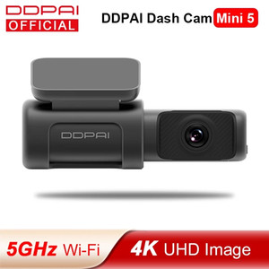 DDPAI Dash Cam Mini 5 voiture DVR UHD DVR Android voiture caméra 4K Build-en 24H GPS Wifi Parking 2160p Auto Drive Véhicule vidéo Recroder Mini5