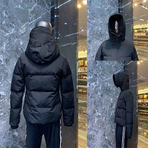 Kış ceketler aşağı Parka Erkekler Kış Down Parkas Sıcak Ceket Hoodie Siyah ceket Aşağı Palto Sıcak Coat Giyim Doudoune homme parka