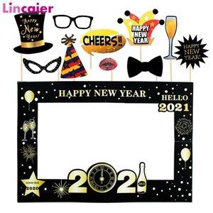 Бумага Photo Frame 2021 Happy New Year Eve Party Decor 2020 Merry Новогодние украшения украшения для дома Фон
