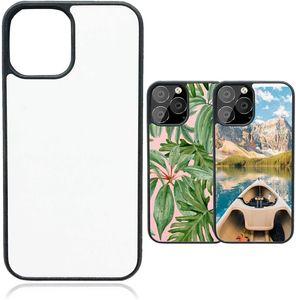 Sublimação Blanks 2D Case Phone Capas de borracha macia para iPhone 12 12 Pro Max Celular em branco Protetora DIY Phone Case