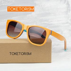 Деревянные деревянные старинные летние рамки 8003 Солнцезащитные очки Очки поляризованные Toketorism Handmade UV400 ROPPC