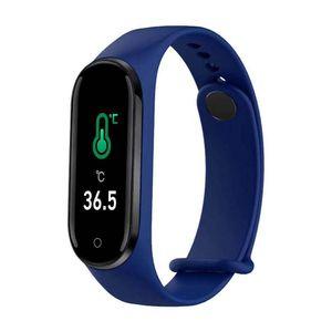 M5 Pro Smart Body Temperature Information Synchronization Bracelet Heart Rate Fitness Tracker Sleep Detection