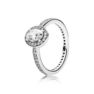 Sterling SilverDiamond with Original box set Fit Pandora style Wedding Ring Engagement Jewelry for Women Girls 1621