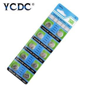 10pcs / pack Ag13 LR44 357 Knopfbatterien R44 A76 Sr1154 Lr1154 Zellen-Münzen-Alkaline-Batterie 1.55V G13 Für Uhren Spielzeug Fern wmtvEc dh_garden