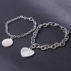 In stainless steel bracelet of the women heart circle female accessories 2020 chains hand custom gifts from jewelry wholesale charms