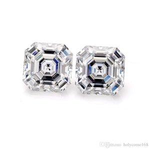Grown laboratorio de joyas de diamantes de alta calidad barato Def blanca 7x7mm Asscher Cut Loose Moissanite piedra preciosa del diamante
