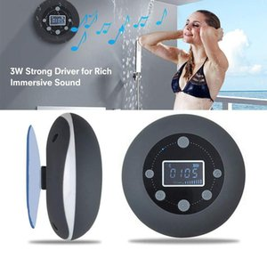 Bathroom Speaker Shower Room Waterproof Bluetooth Speaker with Strong Suction Cup FM Radio SD Card Auto-off Wireless Loudspeaker