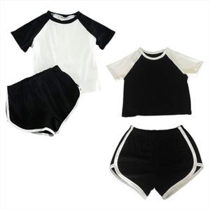Women 2Piece Active Outfits Raglan Short Sleeve Color Block Crop Top Slim Dolphin Shorts Jumpsuit Lounge Sports Cotton Tracksuit